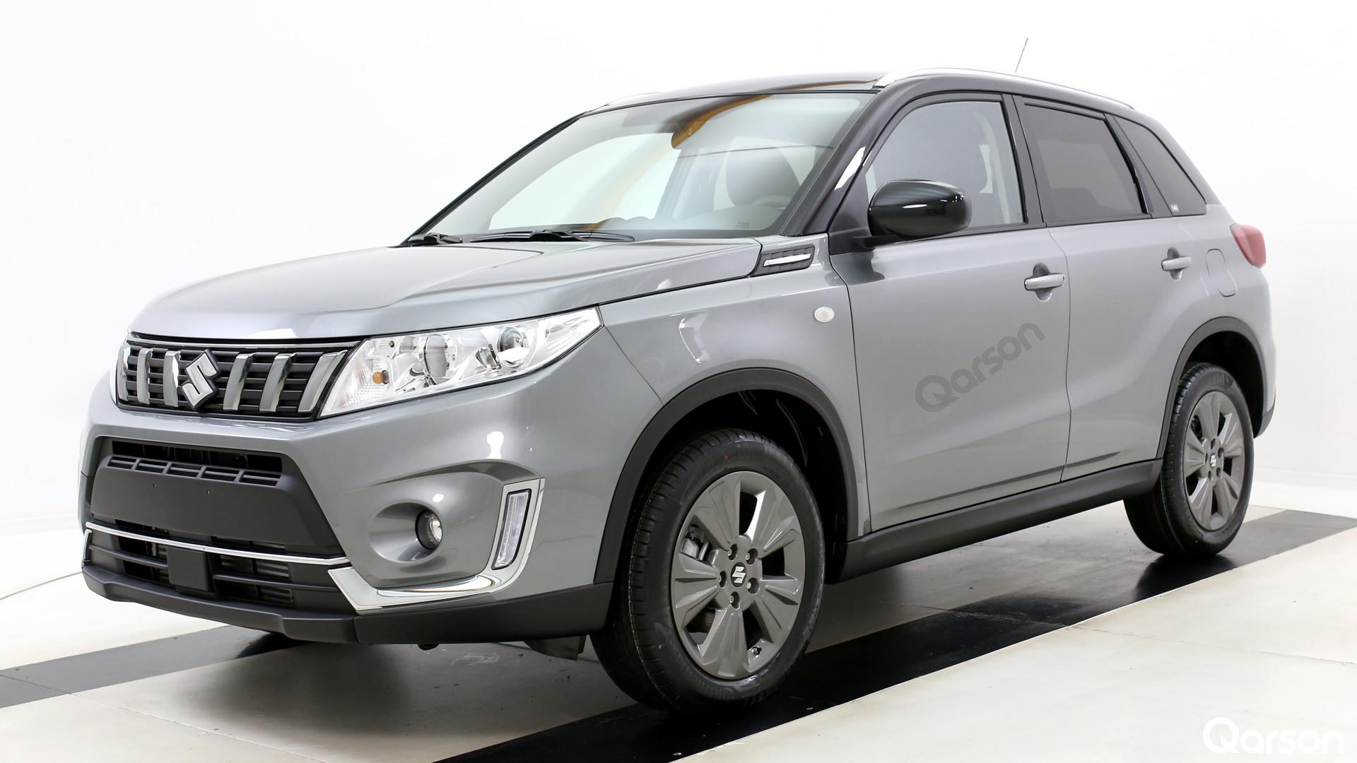 Suzuki Vitara Facelift Widok auta z przodu z lewej strony pod kątem 60 stopni