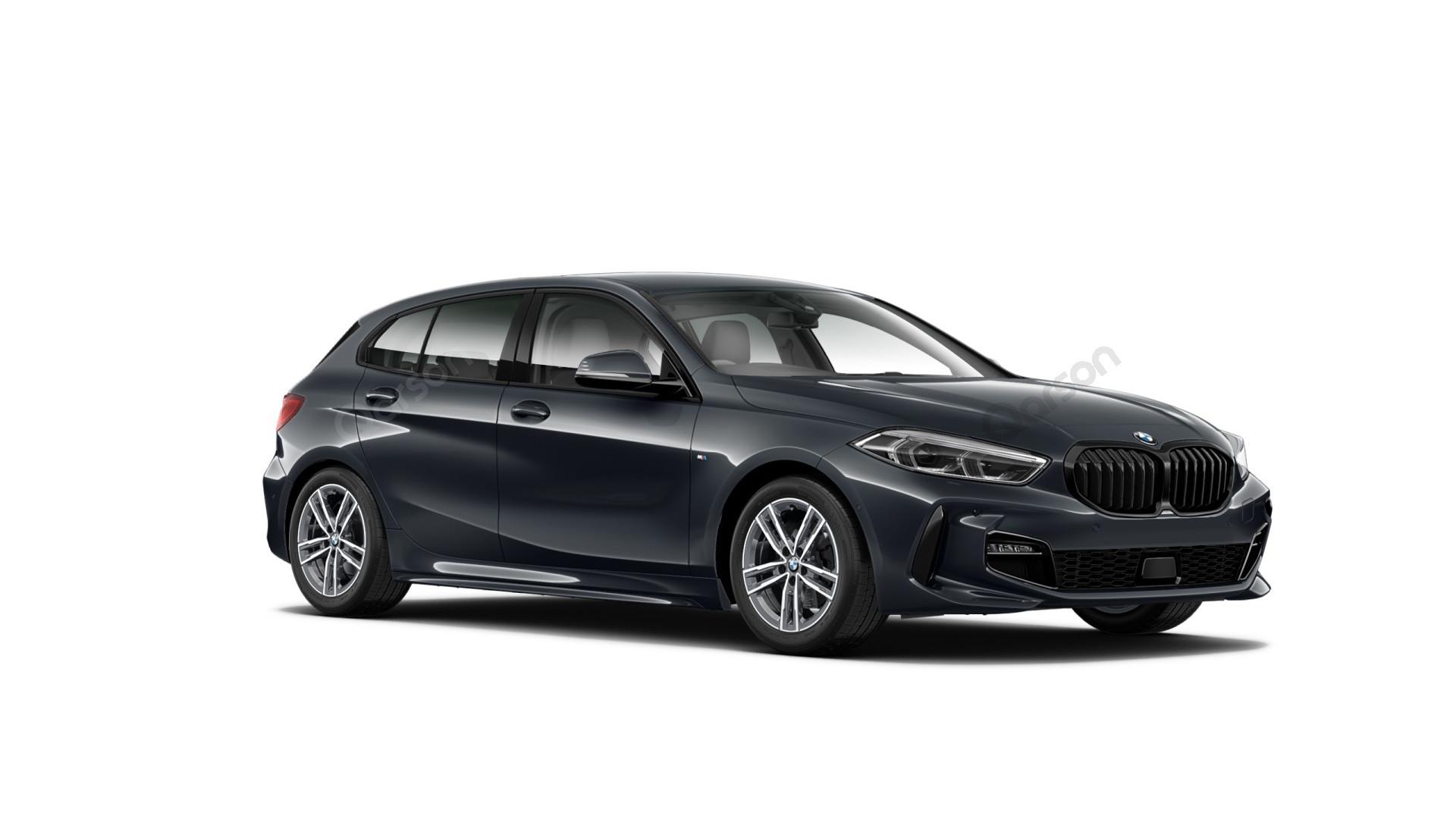 BMW 1 5D Widok z przedniego prawego boku kąt 300 stopni